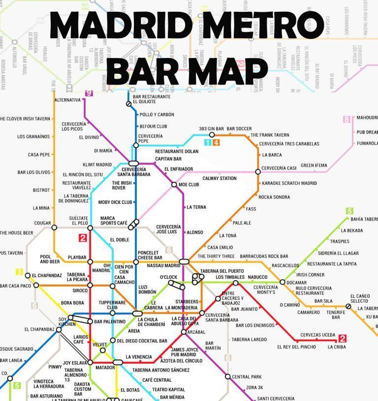 Mapa De Metro Bares