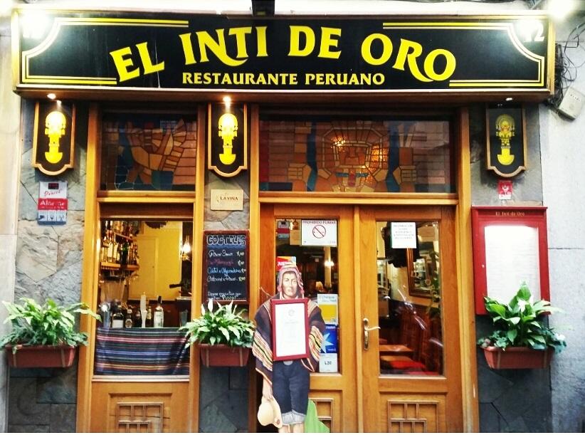 Inti Restaurant Menu